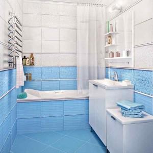 Фото плитки Керамин в дизайне ванной комнаты