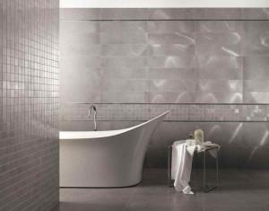 Фото металлической плитки в ванной комнате