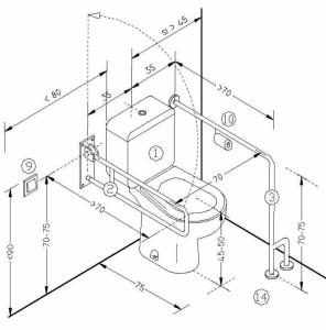 Размеры поручней для инвалидов в туалете