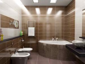 Фото дизайна современной ванной комнаты