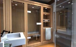 Фото дизайна ванной комнаты с элегантными вешалками