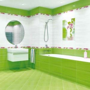Фото зеленой ванной комнаты