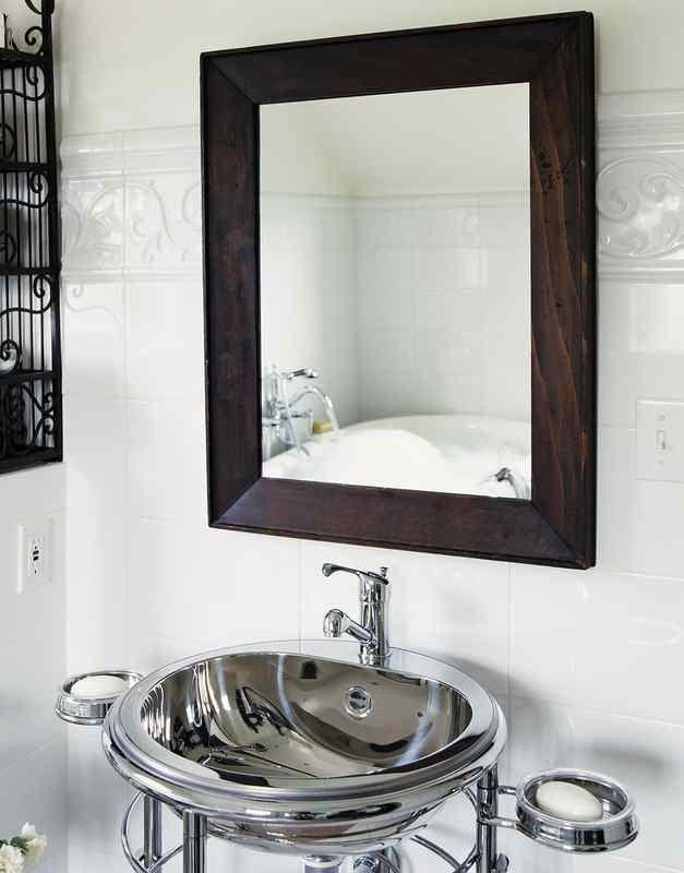 Black mirror bathroom
