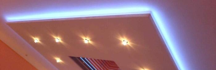 Гипсокартоновые двухуровневые потолки