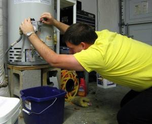 Слитв воды с водонагревателя