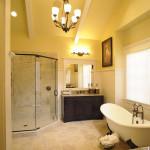 Желтая ванная комната
